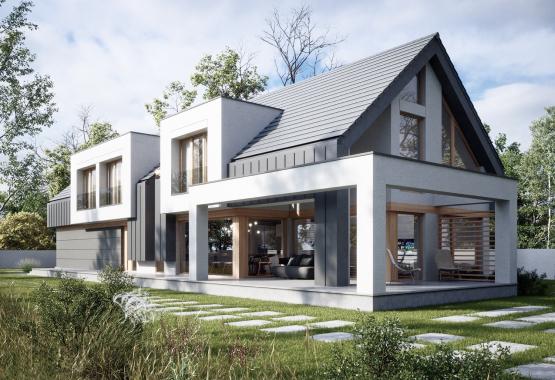 Одноэтажный дом с террасой (145м²)