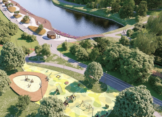 Обустройство парков, скверов, детских площадок и других мест для отдыха и развлечени